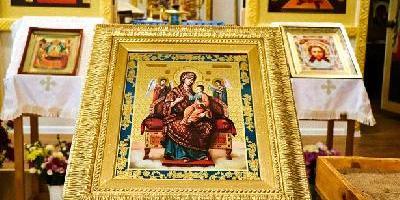 Четвертый престольный праздник состоялся в домовом храме в честь иконы Божией Матери…