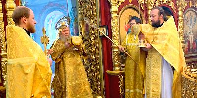 В неделю 14-ю по Пятидесятнице епископ Великолукский и Невельский Сергий совершил Божественную…