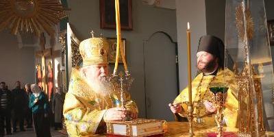 В день памяти Святых Отцов VII Вселенского собора, епископ Великолукский и Невельский…