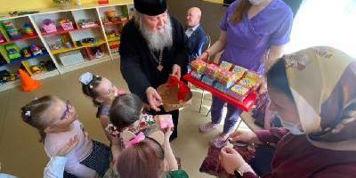 Епископ Великолукский и Невельский Сергий посетил Реабилитационный центр для детей…